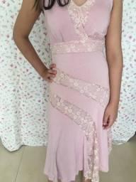 Título do anúncio: vestido rosa midi em malha