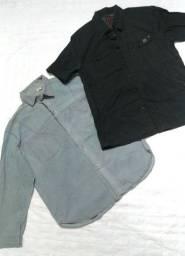 Título do anúncio: Camisa Preta Calvin Klein e Camisete jeans algodão - Tam M