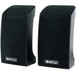Caixa de som usb/p2 hoopson 9w rms cx-pc012 preta