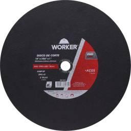 "Disco De Corte Aço 14"" 1/8"" X 1"" Worker"