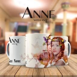 Serie Anne Com E Caneca Personalizada Com Nome para presentear