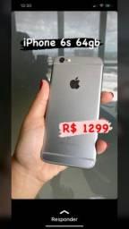 IPHONE 6S 64GB VITRINE C/ GARANTIA E CARREGADOR