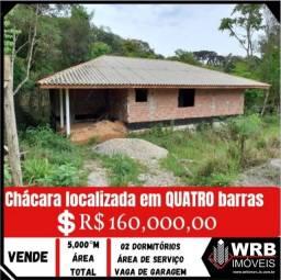 Título do anúncio: Chácara localizada em QUATRO BARRAS, PALMITAlZINHO