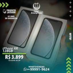 IPHONE XR ( BRANCO/PRETO ) - ANATEL ( CAPACIDADE: 128GB ) LACRADO