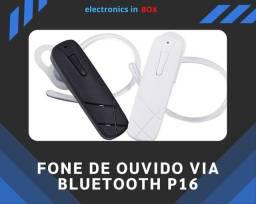 Fone de ouvido via Bluetooth P16.