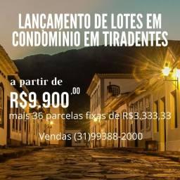 Lançamento em Tiradentes. Lotes em Condomínio Fechado Perto do Centro