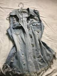 Colete Comprido jeans