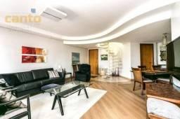 Cobertura com 3 dormitórios à venda, 269 m² por r$ 1.100.000,00 - juvevê - curitiba/pr