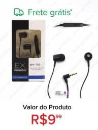 Fone de ouvido com microfone sony ex monitor mh-750