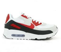42d88d1714 Tênis Nike Air Max 90 Branco e Vermelho