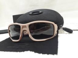 fb7b70eb2d236 Óculos Oakley SI Ballistic Shocktube Bege Preto Prizm - Importado e Novo