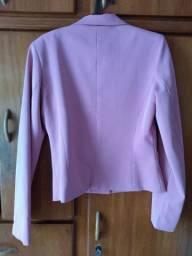 Conjunto blazer 38/40 cor goiaba
