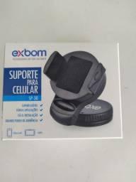 Suporte veicular p/ celular. Exbom. R$ 40,00.Whats *.. *..37799616