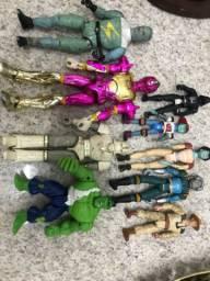 Lote bonecos anos 90