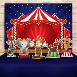 R$180,00 Vendo kit para festa tema circo com painel e 5 display de mesa em mdf