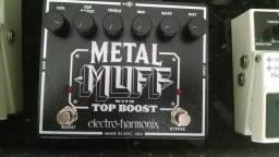Pedal Fuzz Metal Muff Top Boost Electro Harmonix