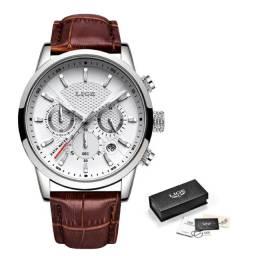 Relógio Masculino Lige Luxuoso (garantia 2 Anos) entrega gratuita