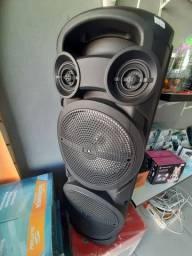 Caixa De Som Grande com Microfone sem fio