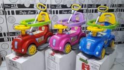 Carrinho de Passeio Baby Car com Função Andador Primeiros Passos