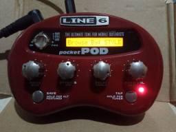 Line 6 pocket POD + Pilhas recarregáveis