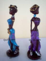 Mini Colecionador Linda Estatua Africana Decoração valor cada otimo para presente