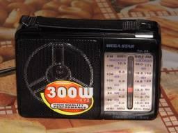 Megastar um dos melhores radios do momento am/fm/sw 110/220v novo na caixa