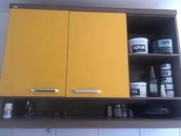 Título do anúncio: Armário de cozinha aéreo amarelo/argila