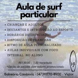 Aula de surf particular