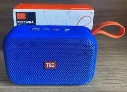 Título do anúncio: Caixa de Som Azul T&G Nova Original portátil Excelente Qualidade (aceito cartão )