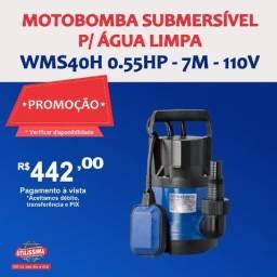 Título do anúncio: Motobomba Submersível para Água Limpa 0.55HP