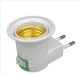 Bocal para ligar lampada na tomada com botão liga e desliga