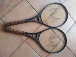 Raquetes de tênis usadas