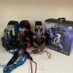Fone headset gamer kp 455 PC ps4 ps3 xbox one adaptador p2 grátis