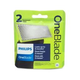 Título do anúncio: Kit 2 Philips One Blade Refil Lamina Oneblade Original Qp210 - Lacrado
