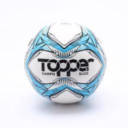 Título do anúncio: Bola De Futebol Campo Topper Slick Ii Tecnofusion Bco/azul