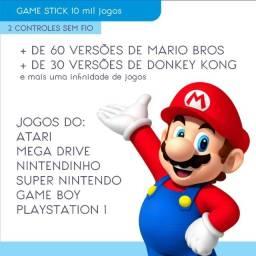 Video game retro Super Nintendo Mario Bros Donkey Kong 10 mil jogos