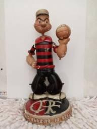 Flamengo - Mascote raríssima!!! anos 40/50 Estatueta antiga.