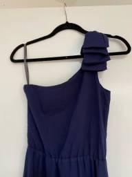 Título do anúncio: Vestido longo azul escuro