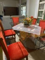 Título do anúncio: Mesa de jantar com 6 cadeiras