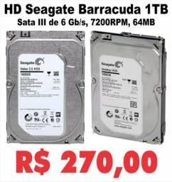 HD  Seagate Barracuda 1 tera