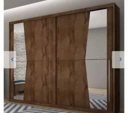 Título do anúncio: Guarda Roupa Casal Geom 2 Portas de correr com espelho e 6 gavetas (2 meses de uso)