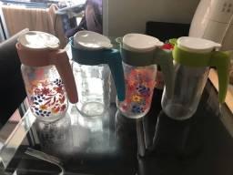 4 jarras de vidro -1 litro