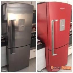 Envelopamento de geladeira - adesive sua geladeira
