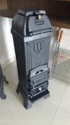 Lareira irlandesa tipo calefator ferro fundido decoração antigo