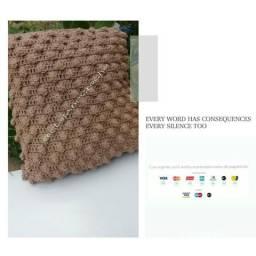 5 capas de almofadas de crochê