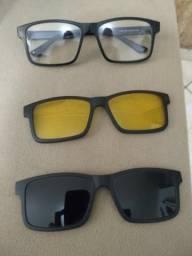 5978b09d0f24f Armação de óculos + lentes escura e amarela