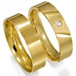 Alianças em ouro luxo