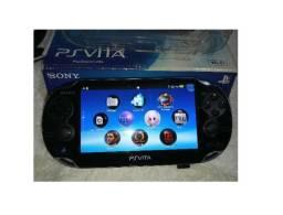 PS Vita Desbloqueado + de 50 jogos cartão 128GB + cartão de 8 GB Sony original
