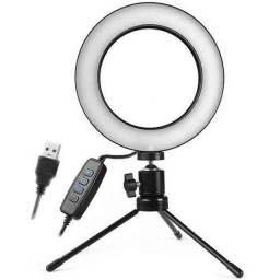 Iluminador Ring Light 6 Polegadas 16cm Usb Led 5500k