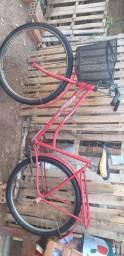 Vendo bicicleta monark feminina vermelha